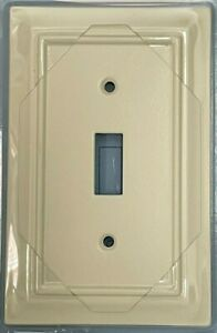 Brainerd Architectural Single Toggle Switch Wall Plate - Light Almond - 3975037