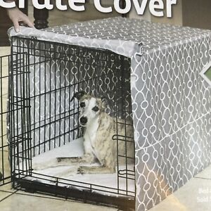 """Midwest QuietTime Defender Covella Dog Crate Cover Gray 36"""" x 23"""" x 25"""" Training"""