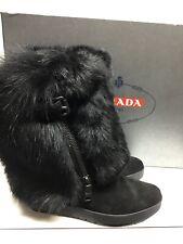 Prada Women's black fur boots EU38/US8