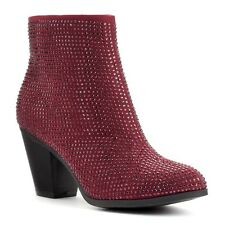 JUICY COUTURE BURGUNDY WOMENS BOOTIES NWB SIZE; 5- 5.5