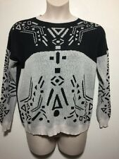 Cool Vans Black & White Geometric Printed Sweater Approx Size Large
