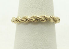 Very Nice 14K Yellow Gold Rope Style Ring Size 6.75 A2740