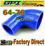 """NEW 2.5""""-3"""" 90° DEGREE 63mm-76 mm TURBO SILICONE ELBOW COUPLER HOSE PIPE BLUE"""