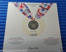 1986 United Kingdom Commonwealth Games £2 Brilliant Unc Commemorative Coin
