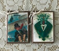 5 NEW St. Patrick's Day Wooden HANDCRAFTED Ornaments, Hang Tags, Gift Tags SET'1