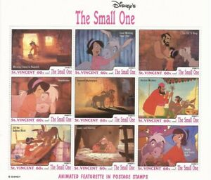 St Vincent - 1992 Disney The Small One - 9 Stamp Sheet #1791J 19J-035