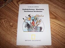 Saskatchewan, Manitoba, NW Terr. Close-up Canada Map 1979 By National Geographic