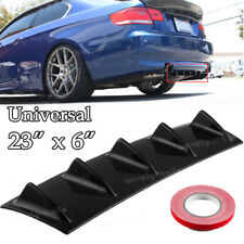 Car Universal ABS Rear Bumper Shark Fin Curved Addon Diffuser 5 Fin Decoration