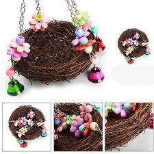 Pet Birds Nest Hammock Swing Toy Cockatiel Macaw Parrot Cage Hanging Chew Toys