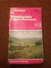 Ordnance Survey Landranger Map No.98 WENSLEYDALE - 1982 Free Uk Post