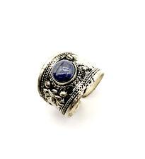 Vintage Tibet silver Lapis lazuli lovely Ring Adjustable size