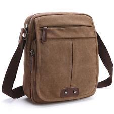 Men Canvas Shoulder Bag Vintage Military Crossbody Messenger Travel Day Handbags
