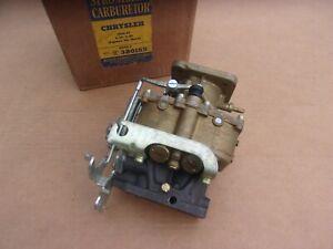 NOS MoPar Stromberg 1946 1947 Chrysler Saratoga New Yorker Imperial Carburetor