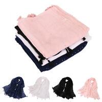 Fashion Women Muslim Sequin Long Hijab Scarf Tassel Shawls Wrap Arab Scarves New