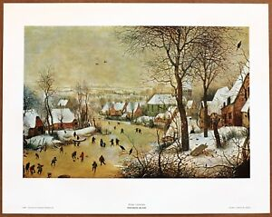 Pieter Bruegel the Elder  Winter Landscape  Original 1960 1st Print Ltd Ed Litho