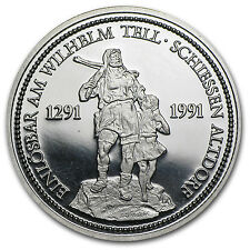 1 oz Proof Platinum Swiss Shooting Thalers - Random Year - SKU #12481