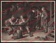 "Eduard Grützner ""Wild Thieves"" Poachers Hunting Alpine Chamois Peasant Shepherd Rifle 1896"