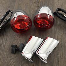 red Rear Turn Signal Lights + bracket For Harley XL883 XL1200 Sportster 92-16