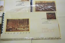 Stamp Collection x 8 Australian First day covers Gold fever May 16 1990 lot x 8