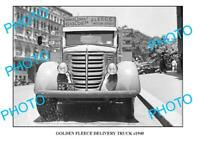 OLD 6 x 4 PHOTO OF GOLDEN FLEECE TRUCK c1940 SYDNEY 1