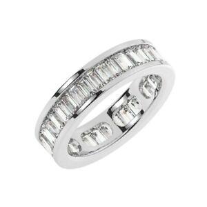 3.00 Carat Channel Set Baguette Cut Diamond Full Eternity Ring in 950 Platinum