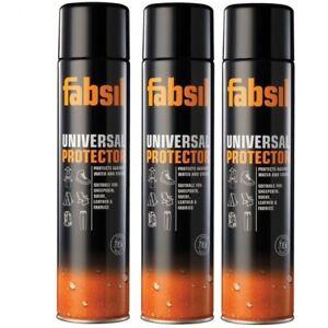3x Grangers Fabsil 600ml (1800ml) Aerosol Protector Waterproofing 2 Spray 3 CANS