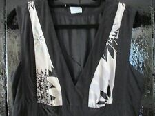 Pure Silk Oasis on trend black/white dress size12