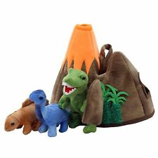 The Puppet Company - Hide-Away Puppets - Dinosaur Volcano Puppet Set