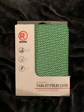 """NEW UNIVERSAL TABLET FOLIO CASE 9"""" 10.1"""" GREEN WHITE Fits iPad Android Kindle"""