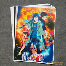 8pcs Anime Ao no Blue Exorcist Home Decor Poster Wall Scroll Gift
