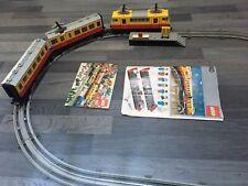 Vintage Lego 7740 Inter City Passenger Railway Train Engine & Carriages 1980's
