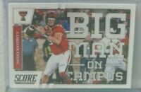 Patrick Mahomes 2017 Score Big Man On Campus rookie rc Mint super hot rc invest