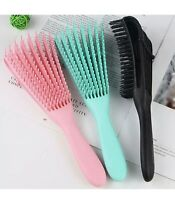 New Detangling Brush Hair Combing Comb Brush Detangle Wet/Dry Curly Natural Hair