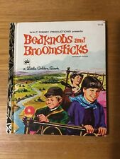Little Golden Book Walt Disney BEDKNOBS AND BROOMSTICKS D125 Vintage 1972 1st ed