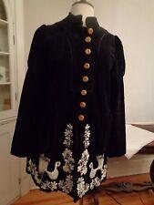 ELEVENSES Anthropologie corduroy embroidered bird blazer women's 8