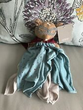 Mamas & And Papas Superhero Pow Soft Toy Bear baby Comforter blankie Blanket