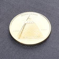 Freimaurer Alles Sehende Pyramide Pyramid Goldfarben Münze Münzen Kunst  DRP