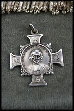 † ST JOHN MARY BAPTIST VIANNEY SILVER PENDANT THE CURE OF ARS & IMMACULATE MARY
