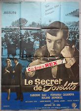Affiche LE SECRET DE JOSELITO Antonio Del Amo FABIENNE DALI 120x160cm 1963