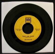 THE BEATLES-Twist And Shout+There's A Place-Black Box Thick Line 45-TOLLIE #9001