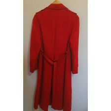 RED LADIES WOOL COAT SIZE 10