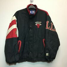 VTG Chicago Bulls Starter Full Zip Jacket Men's Size Large L