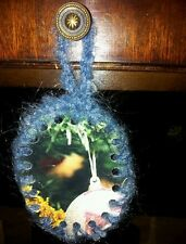 Christmas tree decoration/ ornament handmade. Double sided. Cat. Crochet.