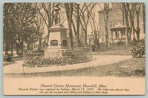 Haverhill Massachusetts~Hannah Duston Monument~c1910 Postcard