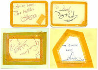 The Hollies + Gerry and the Pacemakers signed autograph album pages 1960s