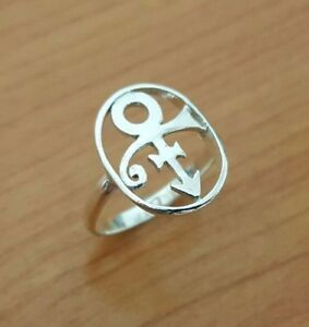 Prince Love Symbol Ring - 925 Sterling Silver