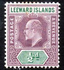 LEEWARD ISLANDS King Edward VII 1902 ½d. Purple & Green Wmk Crown CA SG 20 MINT