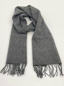 Vintage Johnstons of Elgin 70% Cashmere 30% Wool Scarf, Grey, Scotland