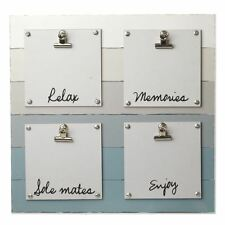 Wooden Note Board with Relax, Memories, Soul Mates & Enjoy Clip Display Panels