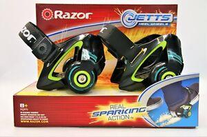 NEW Razor Jetts Heel Wheels SPARKING Shoe Fitting Skates Kids Toy Heelys Sport